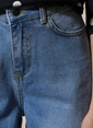 Agenda Yüksek Bel Culotte Jean Pantolon Mavi